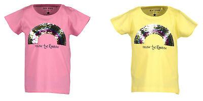 Blue Seven Mädchen Wendepailetten T-shirt Gr.92-128 Kurzarm Regenbogen Gelb Neu! Ein BrüLlender Handel