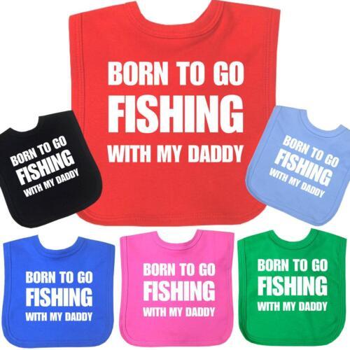 Babyprem né aller pêcher Daddy Funny Novelty bavoirs Douche Cadeau Feeding Bib