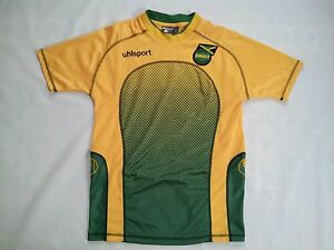 quality design 5620b 3f138 Details about UHLSPORT JAMAICA NATIONAL TEAM SOCCER JERSEY IN SIZE M