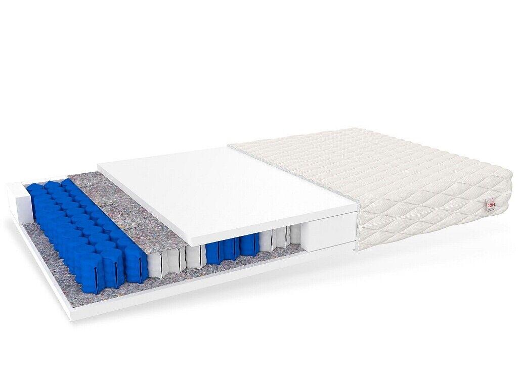 TREVISO MAX 7-Zonen Taschenfederkernmatratze 23cm PUR-Schaum Taschenfederkern H2