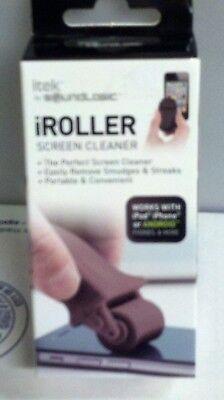 NEW IN BOX 1 ITEK SOUND LOGIC iROLLER SCREEN CLEANER PORTABLE W//COVER BLACK G-3