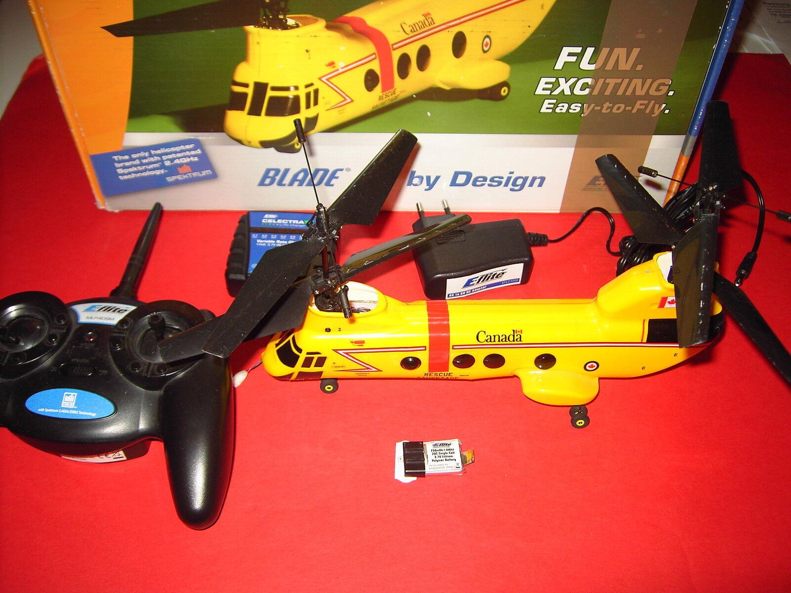 E-Flite Blade MCX tandem Rescue con Telecomando Caricatore Batteria vedere immagini