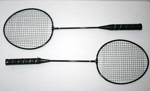 Consciencieux Vintage Spalding Metal Badminton Raquettes, Set De 2, 26 Pouces, M-550-32, Fast Ship-afficher Le Titre D'origine