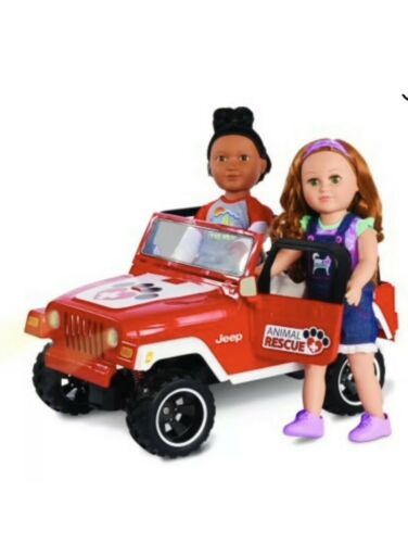 Red Plastic My Life As Animal Rescue Remote Control Jeep Brand New
