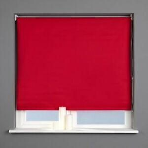 Harrison Drape BLACKOUT Roller Blinds TANGO RED Sizes 90cm to