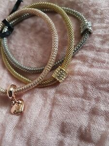 6a428a3bb78a0 Details about Lipsy Gold And Silver Crystal Charm Bracelet Set-3