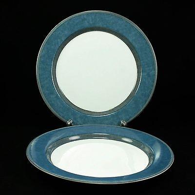"""Dansk Gridworks Blue 11"""" Large Dinner Plates- Set of 2"""