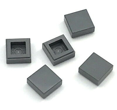 LEGO Lot of 6 Black 1x8 Smooth Flat Tiles