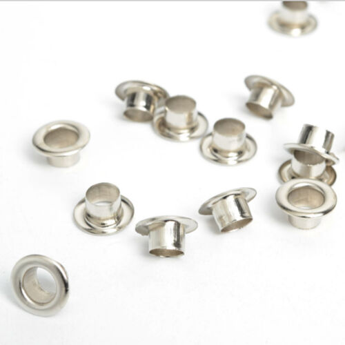 1 of 1 - 100pcs Metal eyelets Scrapbooking DIY Embelishment Garment Clothing Craft Silver