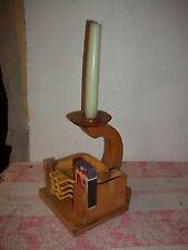 4 Aschenbecher-Kerzenhalter-Raucherset Holzgestell um 1960-Rauchergarnitur