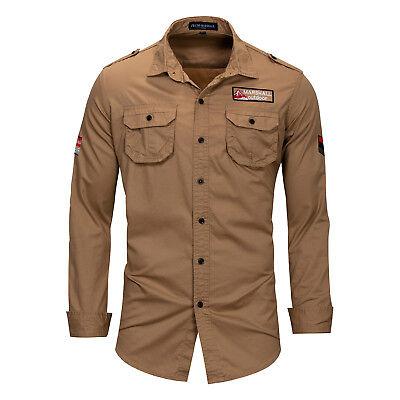 Mens Denim Shirts Casual Long Sleeves Formal Jeans Tops Cotton Multicolor EK6401