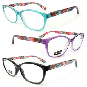 new classic frame reading glasses colorful arms retro
