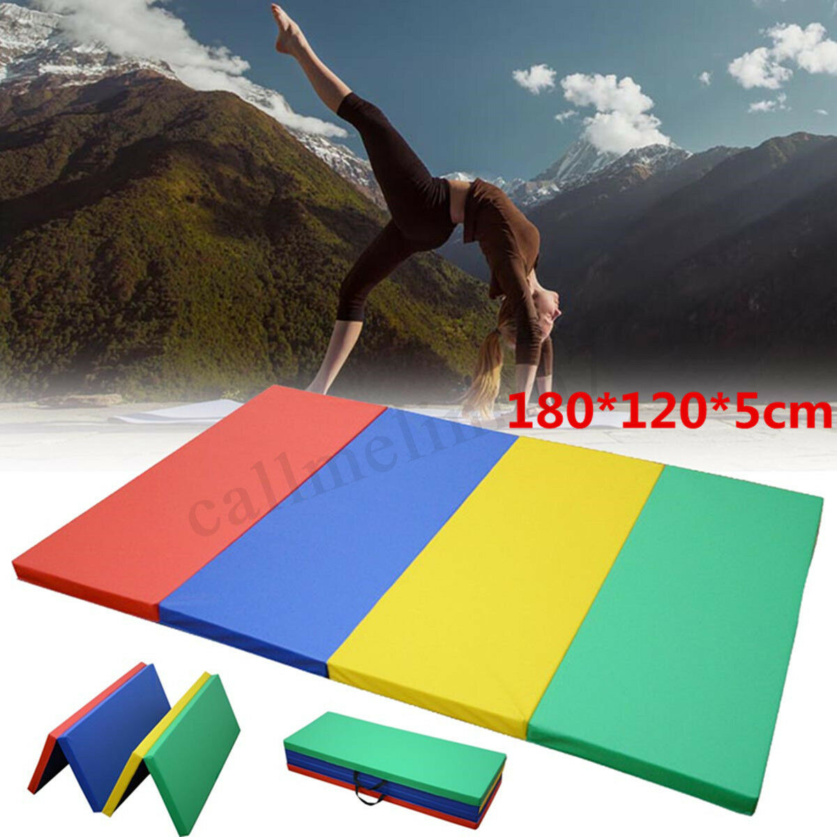 180x120x5cm Folding Gymnastics Mat Panel Exercise Pad Tumbling Fitness Home GYM