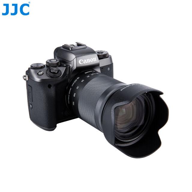 JJC Lens Hood fr CANON EF-M 18-150mm f/3.5-6.3 IS STM Lens+EOS M5 Replace EW-60F
