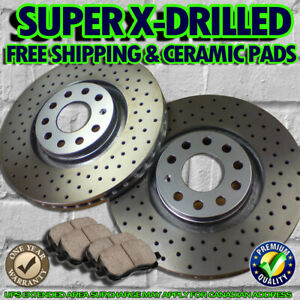 S0680-FIT-2010-2011-Honda-Ridgeline-REAR-Cross-Drilled-Brake-Rotors-Ceramic-Pads