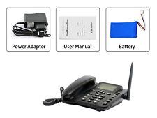 Wireless GSM Desk Phone QuadBand SIM Card Mobile Home Office Desktop Telephone