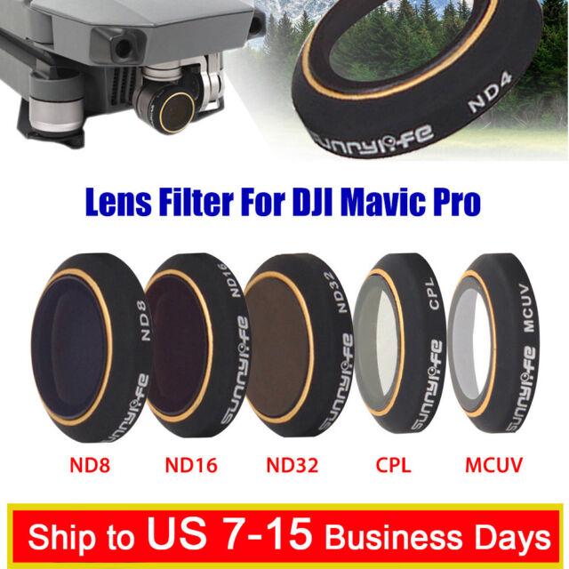ND4 ND8 ND16 ND32 CPL UV DJI Mavic Pro Drohne Kamera Filter Objektivdeckel