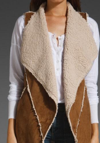 Cognac Nwot Taglia Faux Abbigliamento Sherpa grande Vest marrone Santuario xX48I8