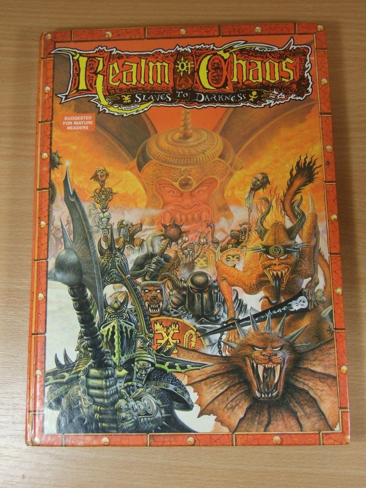 ordenar ahora Libro Tapa Tapa Tapa Dura Reino del Caos de Warhammer esclavos a la oscuridad  a la venta