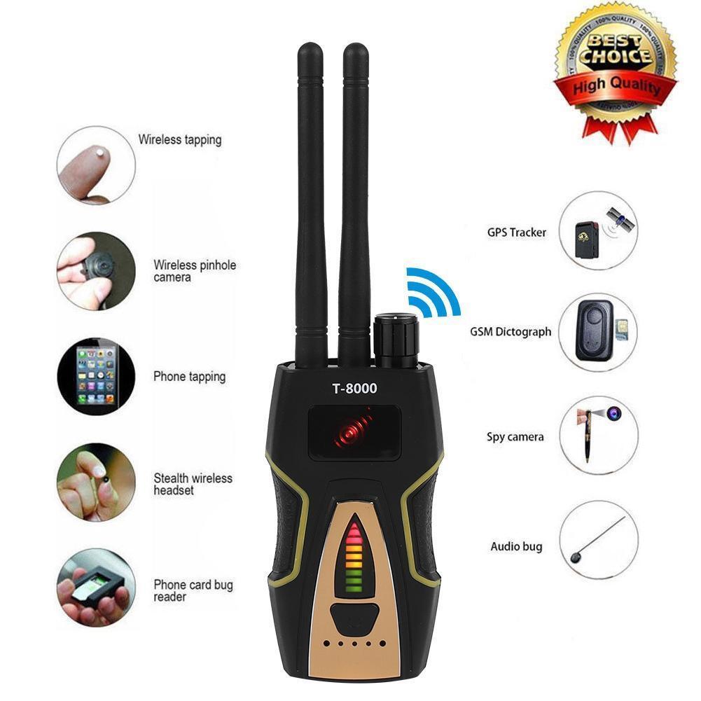 Cámara Espía señal RF Detector anti-GSM BUG buscador de GPS Scan 1MHZ-8000MHZ Audio