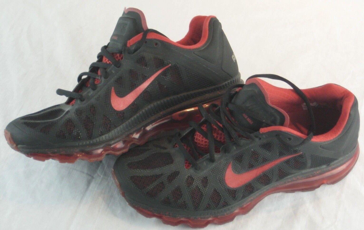 Nike Air Max Breds Running Air Max+ Red Black 429889-060 Men's US size 9.5