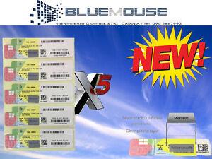 5x-License-Windows-10-pro-Professional-32-64bit-Label-Sticker-Coa-Activation