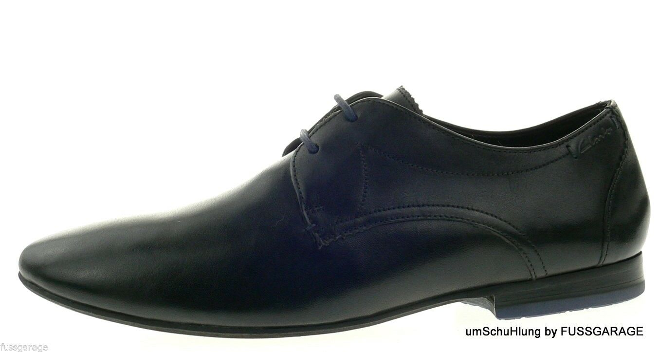 Clarks Originals Schuhe WHELAN WALK schwarz Halbschuhe Echtleder Herren Schürer