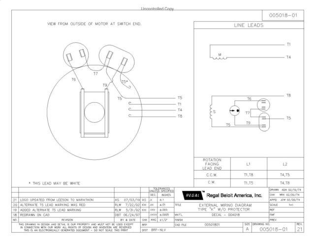 5 Hp Single Phase Leeson Electric, Leeson 5hp Motor Wiring Diagram