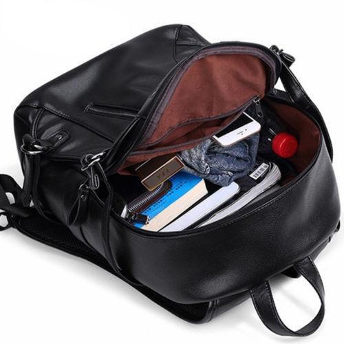 Notebook Computer Bag Waterproof Leather Bags Notebookbackpack Charging Port J