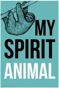 Sloth-My-Spirit-Animal-POSTER-61x91cm-NEW