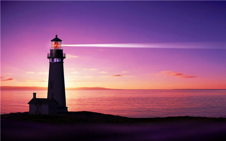 Lighthouse Sunset Power Beach Full Wall Mural Photo Wallpaper Print Home 3D Deca