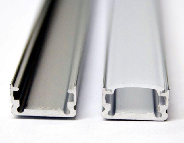 1M/3.3ft Aluminum U-Shape Cabinet Channel 5050 LED Strip Light White Diffuser