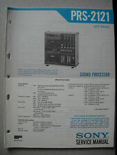 SONY PRS-2121 Sound Processor Service Manual inkl. Supplement Nr. 1
