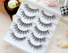 100% Real Human Hair Natural False Fake Eyelashes Eye Lashes Makeup Extension CA