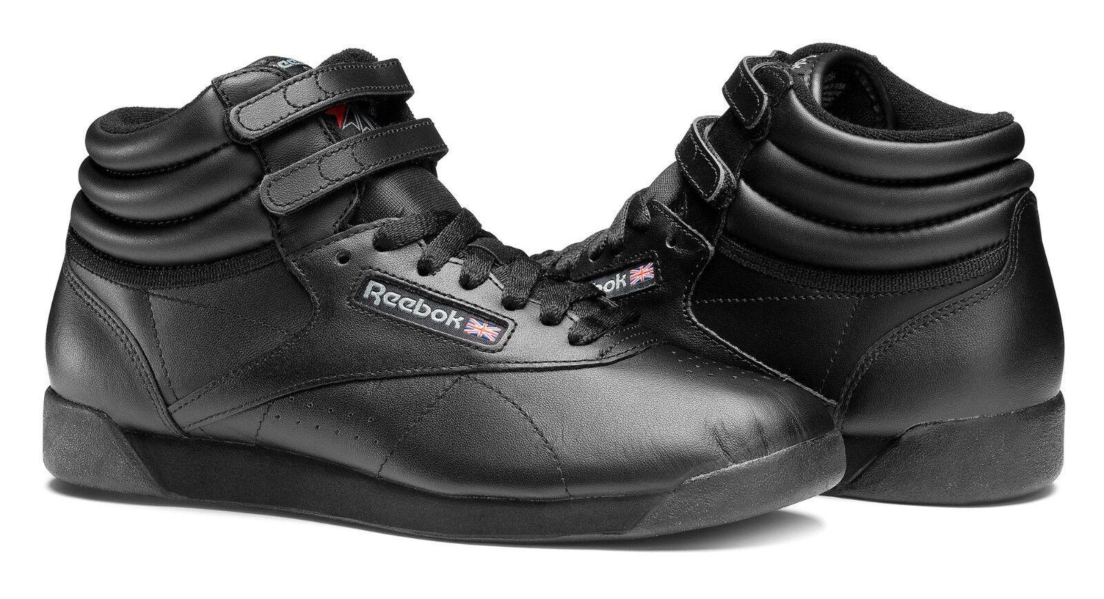 Reebok Hi Freestyle Noir Femmes Baskets Chaussures de Tennis Article 71