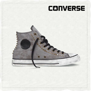 CONVERSE CHUCK TAYLOR ALL STAR BORCHIE Hi Morel Marrone Scuro Da Uomo UK 8/8.5 NUOVO