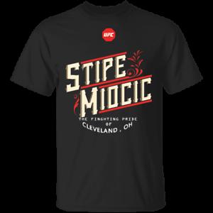 Men/'s UFC Stipe Miocic Heavyweight Graphic T-Shirt MEN Black S-5XL