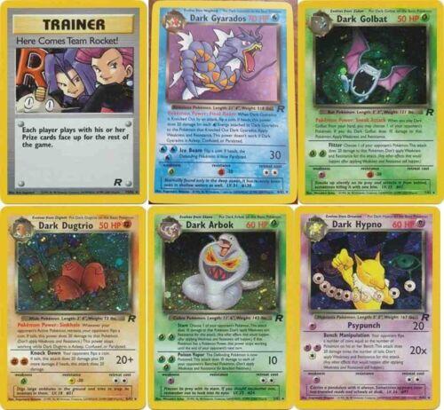 Pokemon cards Team Rocket RARE HOLO Charizard Raichu Blastoise Dragonite etc