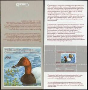 Canada CN2 booklet,MNH. 1986.Canvasbacks in Spring.Duck