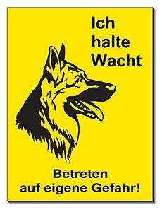 DemüTigen Schäferhund-hund-alu-schild-15x12 Od.20x15 Cm-türschild-warnschild-hinweisschild Reich An Poetischer Und Bildlicher Pracht Haustierbedarf