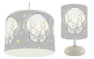 DISNEY DUMBO STARS CEILING LIGHT SHADE + PEBBLE LAMP KIDS ROOM  NEW