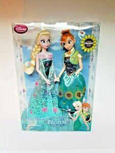 Disney Store Frozen Fever Doll Set Elsa and Anna Summer Solstice 2 Pack Exclusiv