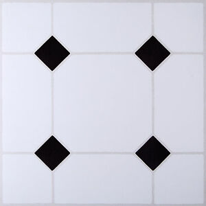 Enjoyable Details Zu 4 Pack Diy Self Adhesive Vinyl Floor Tiles Bathroom Kitchen Black White Effect Home Remodeling Inspirations Basidirectenergyitoicom