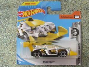 Hot-Wheels-2018-145-365-Rising-Heat-Giallo-Super-Chromes-NUOVO-CASTING-2018