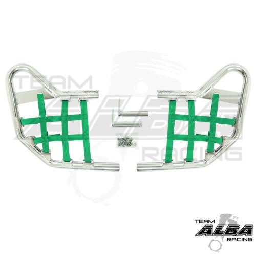 TRX 450R TRX450R Honda   Nerf Bars  Alba Racing  Silver bar Green nets 218 T1 SG