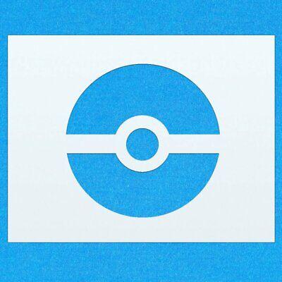 Pokemon Pokeball Mylar Airbrush Painting Wall Art Stencil A6 Size Stencil - XXSmall