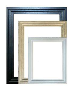 New Modern Photo Frames Picture Frame Poster Frame Black Oak White&Various Sizes