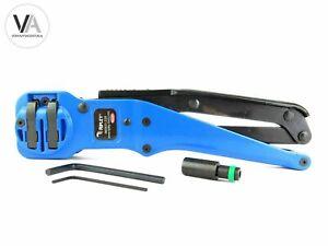 Kompressionszange RG59 RG6 RG7 RG11 Universalstecker Ripley CT2-AS blau Crimp
