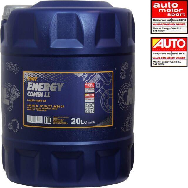 Original Mannol 1x20 Litro Energy Combi Ll 5w-30 Api Sn / Cf Aceite de Motor