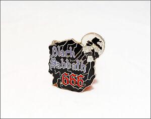 BLACK SABBATH 666 Skull Vintage Enamel Pin